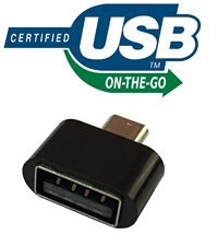 OTG Adapter Micro USB OTG to USB 2.0 Adapter for Smartphones & Tablets (Black)