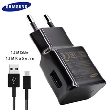 100% Genuine Samsung Galaxy S8 S8+ Fast Charger + 1.2M Type-C USB Data Cable