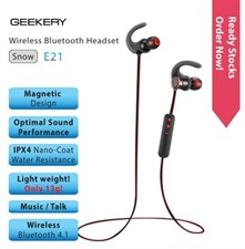 GEEKERY SNOW E21 Magnetic Design Wireless BT Lightest Sport Earphones