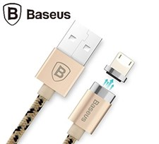 Baseus® Insnap 1M Braided Magnetic Adhesion 2.4A Quick Charge & Data Sync Lightning Cable for Apple