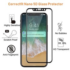 Correctfit 5D Edge Surface Design Tempered Glass For iPhone X