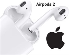Apple AirPods 2 with Wireless Charging Case - White (Master Copy)
