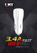 EMY MY-131 3.4A Auto-ID Fast CAR CHARGER