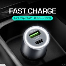 UFFENS® Type-C PD + USB QC3.0 Quick Car Charger