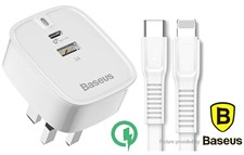 Baseus® Funzi Series 30W Type-C PD + USB Quick Charge for iPhone 8 X iPad MacBook