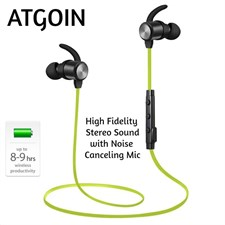 ATGOIN BT565M Sports High Fidelity Stereo Sound with Noise Canceling Wireless Earbuds