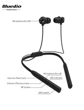 Bluedio T Energy Magnetic Bluetooth Earphone - Black