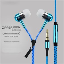 Brand NEW 3.5mm In-Ear Zip Zipper STEREO Hands Free Headphones Headset + Mic Earphones for iphone sa