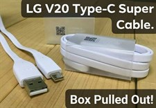 100% Genuine LG V20 Super Fast Type-C Data Cable Box Pulled Out