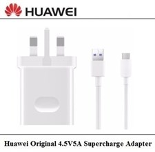 Huawei 4.5V5A SuperCharge Adapter with USB-C Data Cable (White)