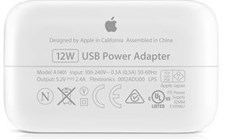 Apple 12W USB Power Adapter Wall Charger A1401 for iPhone, iPad, and iPod (Box Pulled)