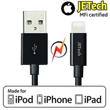 JETech® Apple MFi Certified Lightning to USB Super Fast Data Cable
