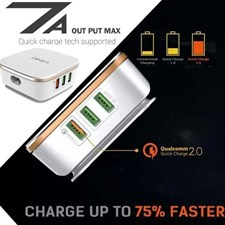 LDNIO® A6704 Qualcomm® Fast Quick Charger QC 2.0 6 port 7A USB Charger
