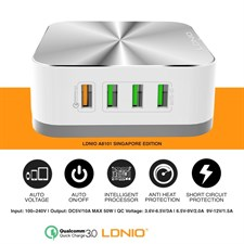 LDNIO A8101 50W Quick Charge 3.0 Technology 8-USB Output 10A Auto ID USB Charger