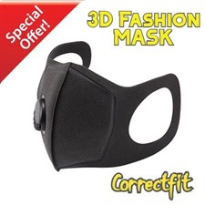 Correctfit KN95 Fashion 3D Face Mask with 40mm Breathing Valve Fresh Air-Purifying Filters