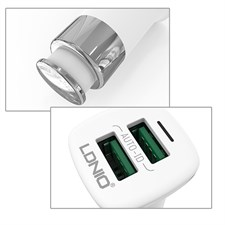LDNIO C301 3.6A Double Auto-ID Usb Car Charger