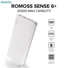 Romoss Sense 6+ 20000mAh Power Bank with Quick Charge 3.0