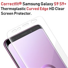 Correctfit® Galaxy  S8 S8+ S9 S9+ Thermoplastic Curved Edge HD Clear Screen Protector