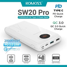 Romoss SW2 Pro 20000mAh 18W PD 3.0 with LED Display Power Bank