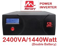 Mercury Power Inverter 2400VA 1440 Watt with 10Amp & 20Amp Charger(Fast Charger)