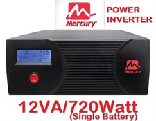 Mercury Power Inverter 1200VA 720 Watt with 10Amp & 20Amp Charger(Fast Charger)